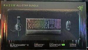 RAZER ALL-STAR GAMING BUNDLE Includes VIPER BLACKSHARK X ORNATA GIGANTUS XXL