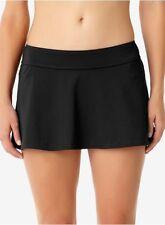 Anne Cole black swim skirt swimsuit bottom size L AH49