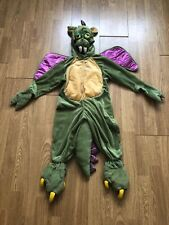 Camouflage Green & Yellow Dragon Costume With Teeth, Claws, Tail & Wings 2-3 Yrs