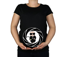 New Maternity 10-20 Cotton James Bond Print Top Tunic Funny T-Shirt Gift 0028
