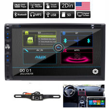 "Double 2Din 7"" Car DVD MP3 Player Touch Screen In Dash Stereo Radio Camera iPod"
