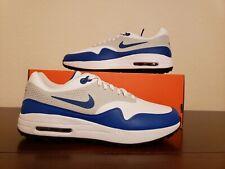 Nike Air Max 1 G Golf Shoes White Game Royal Grey AQ0863-102 Men's Size 9 Sample