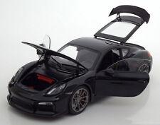 Schuco 2015 Porsche Cayman GT4 Black Metallic in 1/18 Scale New Release!!