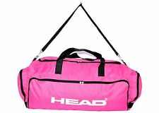 Large Sport Travel Holdall Luggage Carry Gym Duffle Football Cargo bag Pink 60L