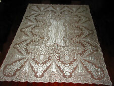 "Vintage Quaker Lace Tablecloth 90"" by 67"" Victorian style Tea Party,Wedding"