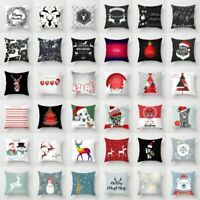 Merry Christmas Xmas Gift Designed Polyester Throw Pillow Case Cover Cushion