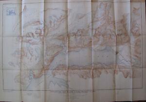 Topog. Map Port Valdez Alaska Fort Liscum Sawmill Bay McIntosh's Roadhouse 1917