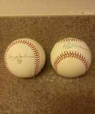Lot of 2 balls signed by R.Jackson & R. Carew PSA-LOA