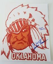 Clendon Thomas Oklahoma Sooners 11 x 14 autographed Si cover Ou signed