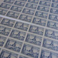 FOGLIO IN 2 PARTI SHEET FRANCOBOLLO CHIESA CAEN N°746 x50 1945 NEUF LUXE MNH