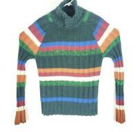 Desigual Men's sz M Black Shawl Collar bottom MARIOS weater pullover multicolor