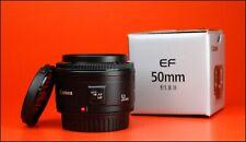 Canon EF 50mm F1.8 MK II Autofocus Prime Lens + Front & Rear Lens Caps + Box
