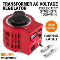 Variac Transformer Variable 1000VA AC Voltage Regulator Metered 0-130V 110V