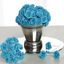 144 pcs Turquoise Mini Ribbon Craft Rose Wedding Party Reception Decorations