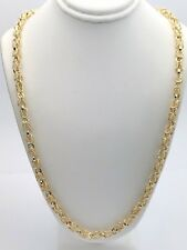 "New Solid 14K Yellow Gold 24"" Turkish Style Link Chain Necklace 38 grams 5mm"