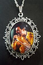 Freddie Mercury Large Silver Pendant Necklace Queen Icon Singer Musician 2