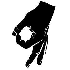 Reingeschaut Sticker Aufkleber Finger Kreis Looked in Circle Zeichen Hand Loch