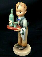 """Vintage Hummel #154/0 Waiter Figurine - Tmk2 Full Bee - 6.50"""" boy wine server"""