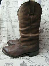 Men's Durango Crumple  Distressed  Brown Western Boots (SW542) Size 8 D / 41 D