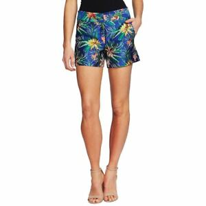 CECE NEW Women's Embroidered Floral Jacquard Chinos Shorts TEDO
