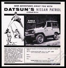 1962 Datsun Nissan patrol 4wd 4x4 SUV photo vintage print ad