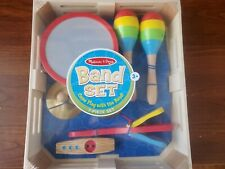 NIB Melissa & and Doug 7 Piece Band Set Complete in box Wooden Toys Music Kid 3+