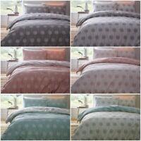 Reversible Floral Dandelion Print Duvet Quilt Cover Bed Sets - Grey, Aqua, Coral