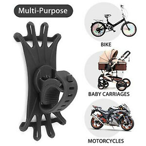 Universal Bicycle Mobile Phone Holder Silicone Motorcycle Handlebar Phone Stand
