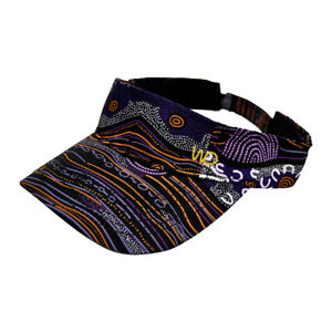 Warrina Designs  Visor Sandy Creek Hat Men Women Australian Aboriginal Art