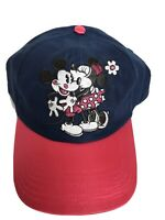 Disney Parks/Disneyland Minnie Kissing Mickey Mouse Pink/Blue Baseball Cap Hat