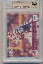1991 Pro Set Football 1990 Replay (Myron Guyton) (#48) (3-9.5's/1-9) BGS9.5