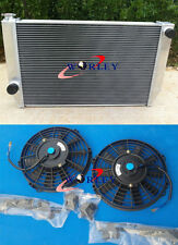 56mm 2 ROW NEW ALUMINUM RADIATOR & FANS for Ford Falcon V8 XC XD XE XF MT