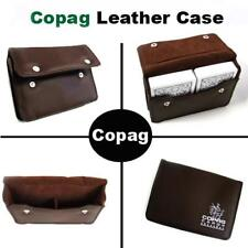 Empty Copag Leather Playing Card Case Holds 2 Poker or Bridge Size Cards NEW