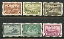 CANADA 1946 DEFINITIVES COMPLETE MINT, OG #268-73