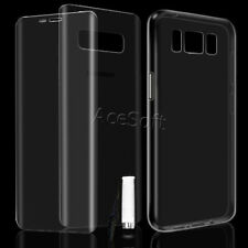 Back and Front Curved Screen Protector TPU Case Pen f T-Mobile Samsung Galaxy S8