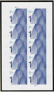 2012 Waves $1 denomination Sc 4717 MNH full sheet of 10