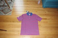 New Men's Adidas Red/White/Blue Patriotic Striped Tech Golf Polo Size S