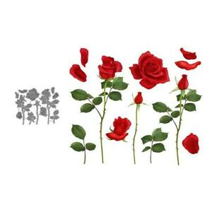 Rose Flower Metal Cutting Dies Scrapbooking Decor Embossing Card Making Craft