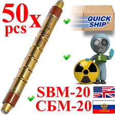 NEW 50 pcs SBM-20 / SBM20 / СБМ-20 (an. STS-5, SI22G) Geiger Tube Counter Tested
