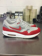 Mens Nike Air Max Lunar 1 OG White/Red  654469-101 Size  10.5