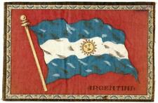 "c 1910 Argentina Antique Cigarette Tobacco Felt Blanket Flag 8.25"" x 5.5"""