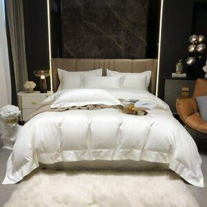 Wide Edge Duvet Cover Egyptian Cotton Bedding Set Bed Sheet Pillowcases