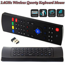 Fly Mouse Air Remote Qwerty Keyboard for Android Smart TV Box with Voice Mini