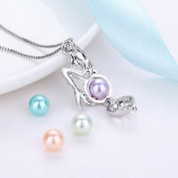 Mermaid  Pearl Cage Pendant Necklace Freshwater Pearls Necklace Jewelry Gift
