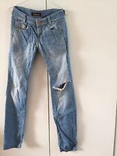 Killah Jeans Style Ebel Größe 27 Helle Waschung, Loch Am Knie