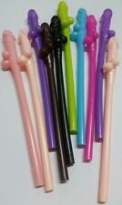 10 x MULTICOLOURED WILLY DRINKING NUDE HENS NIGHT GAMES  PARTY PENIS DICK STRAWS