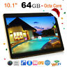 10.1'' Tablet PC Android 6.0 Octa Core 64GB+4GB HD WIFI Phablet Dual Kamera&SIM