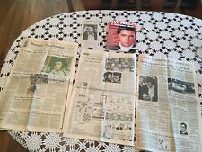 Elvis Presley Lot Memphis Obituary and 8-track Collection,Barbie Doll