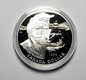 Canada 1995 Hudson Bay Ship .925 Sterling Silver $1.00 One Dollar Coin Proof