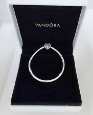Genuine PANDORA FAMILY TREE Heart Clasp Sterling Silver Snake Chain Bracelet 19
